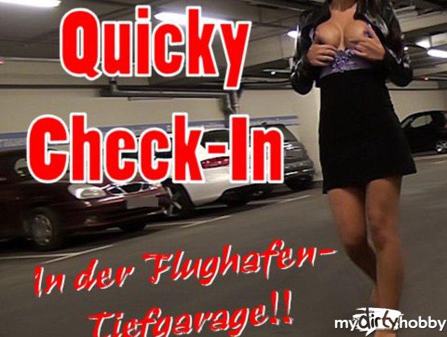 Quicky Check-In in der Flughafen-TG