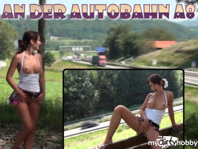 Tittenblitz + Blowjob an der Autobahn A8