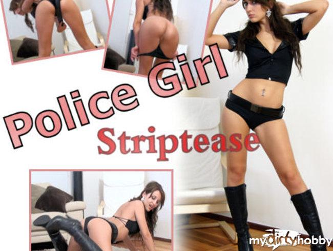 Police Girl Striptease