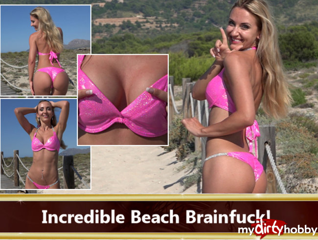 Incredible Beach Brainfuck!